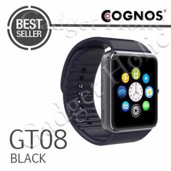 Onix Cognos Jam Tangan Pria - Strap Rubber - Smartwatch GT08 - Hitam