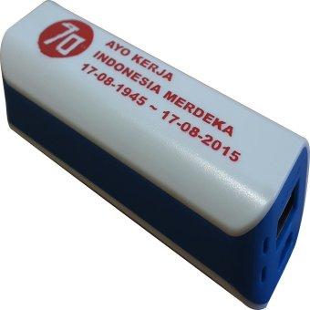 Jual 3T Power Bank Saku Spesial Edisi Merdeka - White List Aegean Blue Harga Termurah Rp 99000. Beli Sekarang dan Dapatkan Diskonnya.