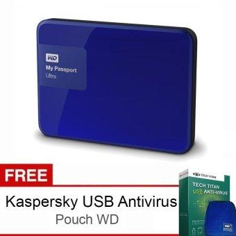Jual Western Digital My Passport Ultra New 3TB Premium Storage USB 3.0 - Biru + Gratis Kaspersky USB Anti Virus + Pouch WD Original Harga Termurah Rp 2999000. Beli Sekarang dan Dapatkan Diskonnya.