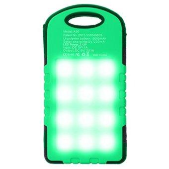 Harga PowerBank Solar Cell Tenaga Surya Panel Emergency LED Lamp 99000 mAh