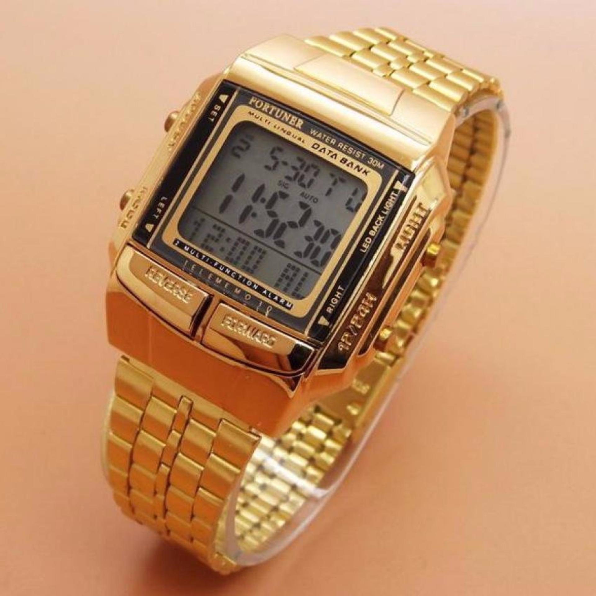 Jam Tangan Wanita Fortuner Strap Stainless Steel - Gold - FR J-505 G