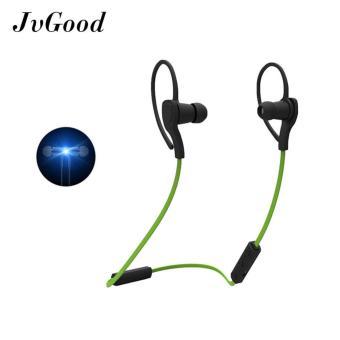 JvGood Headphone 4.1 Earbud Stereo Sweatproof Di Telinga Earphone Olahraga Gym Menjalankan Latihan Kebisingan Membatalkan Headset