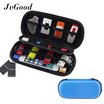 JvGood Multifungsi Besar Kemampuan USB Flash Drive Hard Case Bag Travel Organizer For U Disk USB