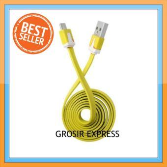 Kabel Data Flat Micro USB 1 Meter - Kuning