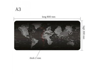 Large World Map Game Mouse Pad Mat Laptop Gaming Mousepad Rubber Mouse Pads 2017 - intl