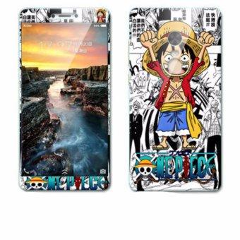 Mewah 3D Lukisan Depan + Belakang Penuh Case Cover Warna Tempered Glass Case Xiaomi Redmi Catatan