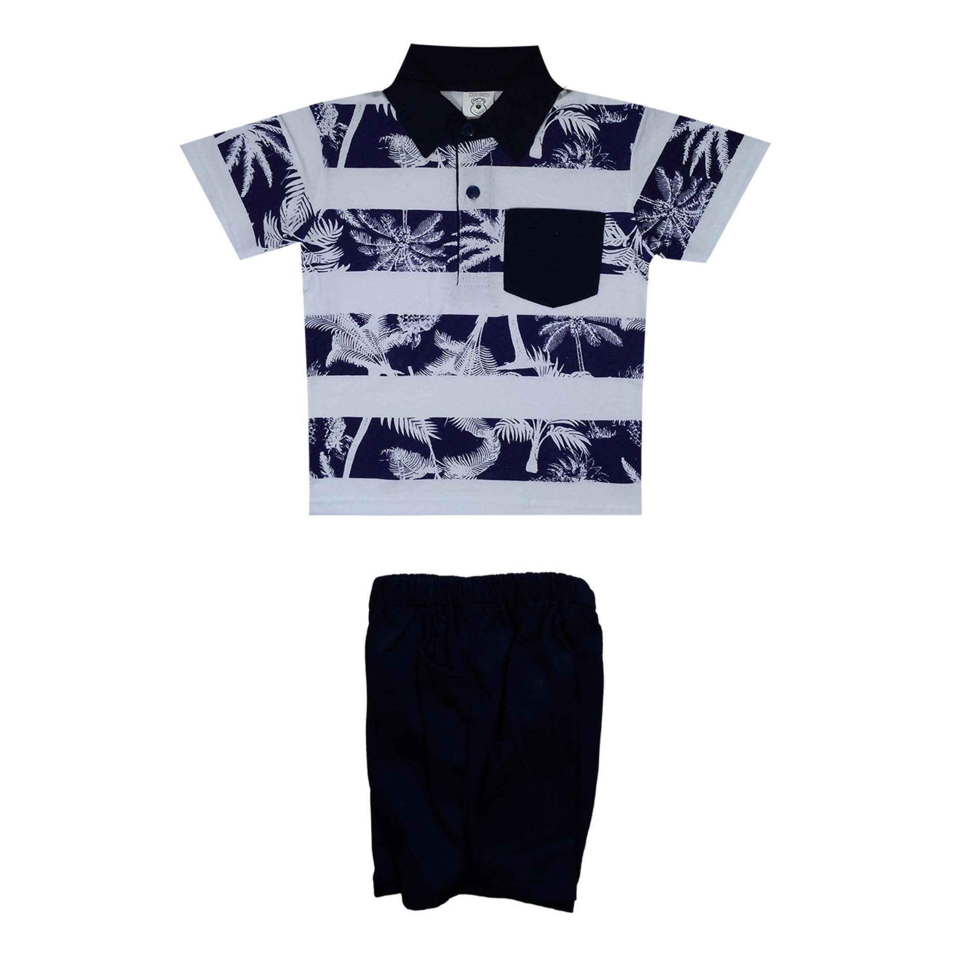 Macbear Baju Polo Anak M For White Stripes On Yellow Size 5 De5 1805 Junior Kemeja Lengan Panjang 3 Stars Blue 12 Biru Kids Setelan Palm Beach