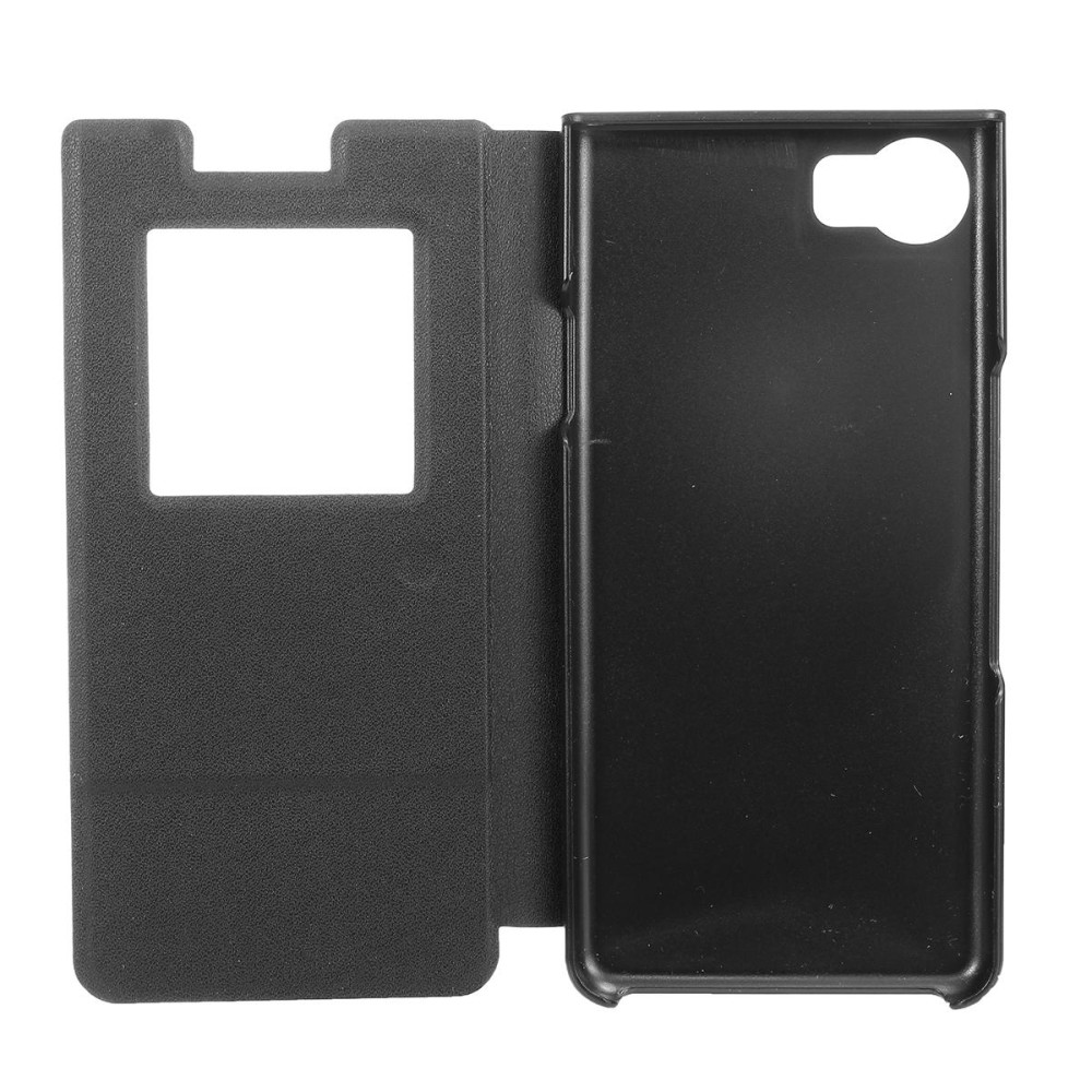 Magnetic Smart Windows View Leather Case Flip Cover For Blackberry Keyone DTEK70 - intl