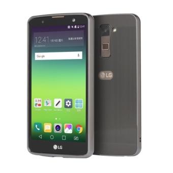 ... Logam Bumper Kawat Menggambar Kembali Penutup Case untuk LG Stylus 2 K520 Hitam