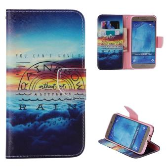Moonmini Case for Samsung Galaxy A8(2015) Leather Case Flip Stand Cover - Rainbow