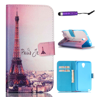 Moonmini PU Leather Wallet Flip Stand Dompet Kartu Slot Case untuk Samsung Galaxy Note 3 NEO