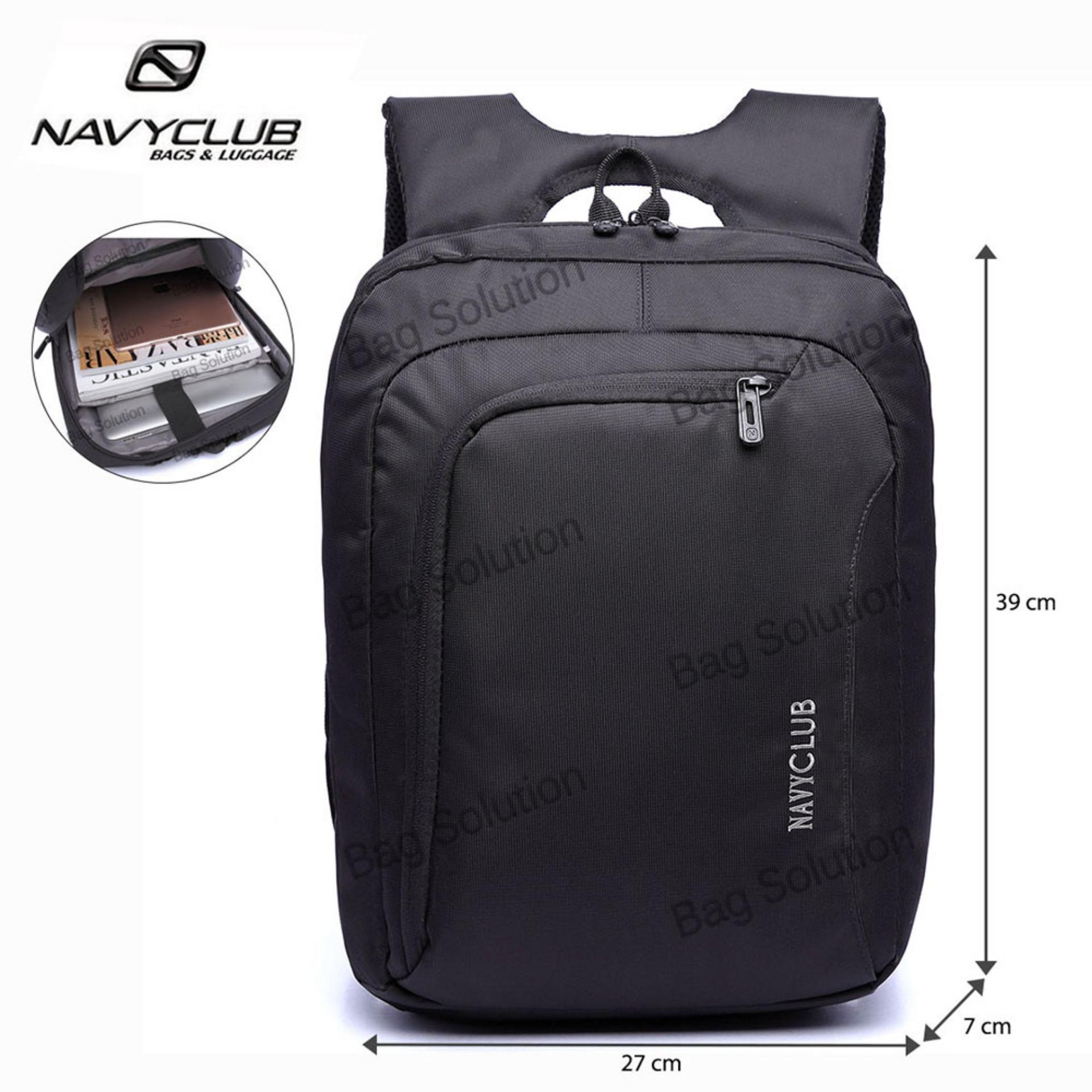Navy Club Tas Ransel Laptop Tahan Air - Tas Pria Tas Wanita 5850 Backpack Up to