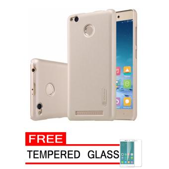 Nillkin Frosted Shield Hardcase for Xiaomi Redmi 3 Pro - Gold + Free Tempered Glass