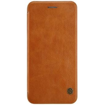 Nillkin Original QIN Series Leather Case / Flip Case for Iphone 7 Plus - Coklat