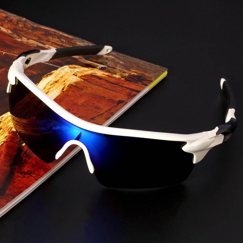 Olahraga Bersepeda Sepeda Baik Sepeda Berkuda UV400 Kacamata Pelindung  Matahari Eyewear Melotot Biru   Hitam   cbe8140218