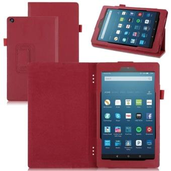 PU Kulit Kulit Smart Cover untuk Amazon Kindle Fire HD 8 2017 4th Gen Stand Case