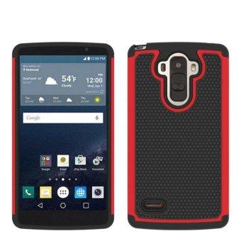 Karet Hybrid Hard Silicone Shockproof Case Cover untuk LG G Stylo/G4 Stylus Merah-