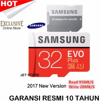 Samsung MicroSDHC 32GB 95MB/s Evo Plus UHS-I Card With Adapter - Merah