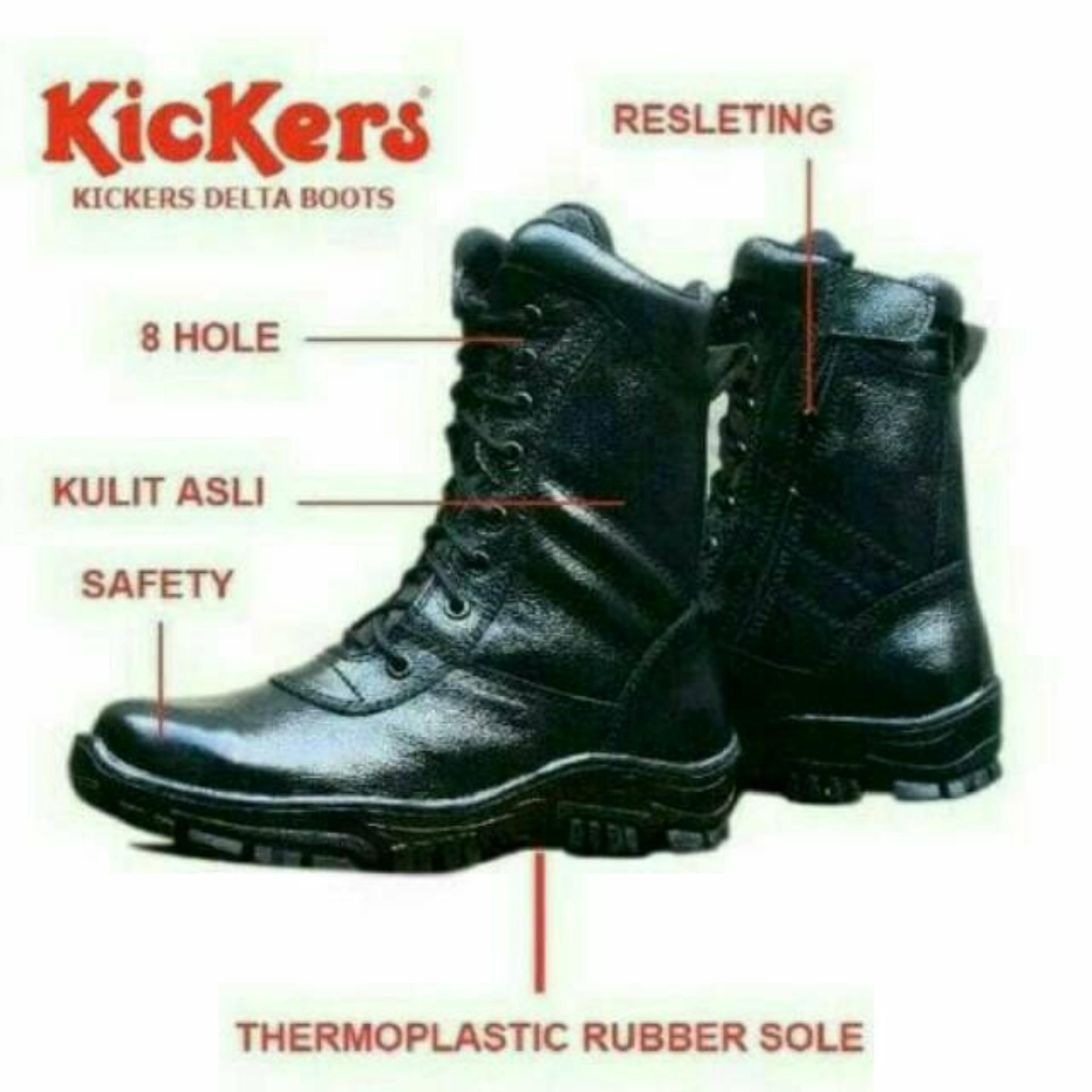 Kickers Sepatu Boots Pria Keren Sepatu Kickers Safety Kulit Sepatu ... 3dd3d700e2