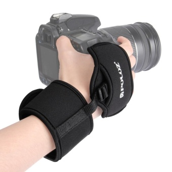 Soft Neoprene Hand Grip Wrist Strap with 1/4 inch Screw Plastic Plate for SLR / DSLR Cameras - intl