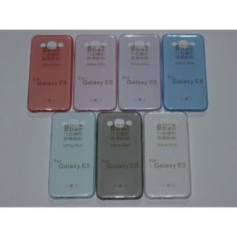 Kehebatan Ultrathin Softcase Samsung Galaxy E5 Transparant Biru Dan
