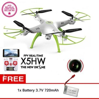 Syma Drone X5HW WIFI FPV Real Time (WHITE) HD 2.0MP Altitude hold +
