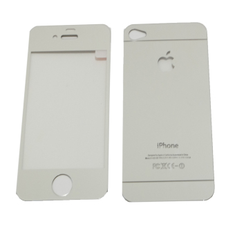 Tempered Glass 2in1 Mirror Glossy For Apple iPhone 4/ Iphone4/ iPhone 4G/ iphone