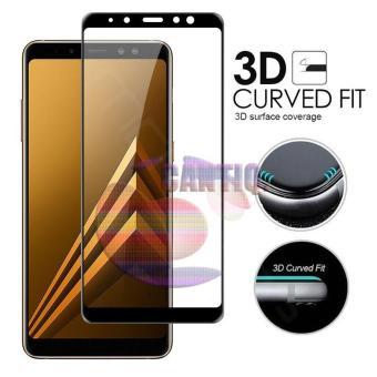 Tempered Glass Full Screen Black Samsung Galaxy A8 2018 9H Screen Anti Gores Kaca / Screen