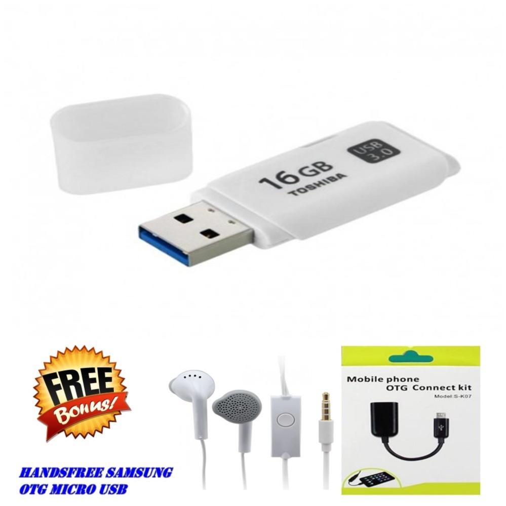Kehebatan Flashdisk Toshiba 64gb Bonus 16gb Dan Flash Disk Usb Free Otg Handsfree Samsung