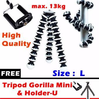 Tripod Gorilla Flexible Size L (max 13kg) with Holder-U + Free Mini