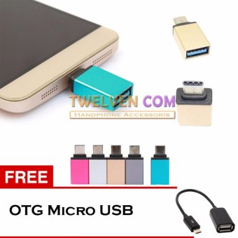 Twelven Metal USB-C Adapter Type-C to USB 3.0 Adapter + Free OTG