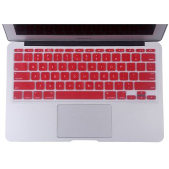 Welink Fashion Silicone US Keyboard Cover Waterproof KeyboardProtector Skin For Apple Macbook Air 11 Inch (Red)