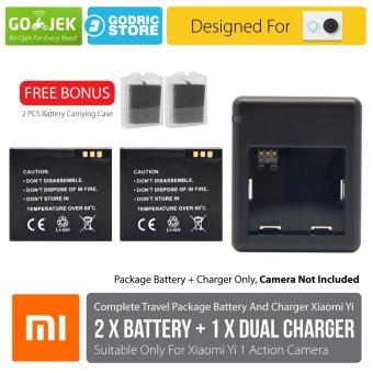 Xiaomi Yi International & China Version Complete Set Baterai / Battery Charger