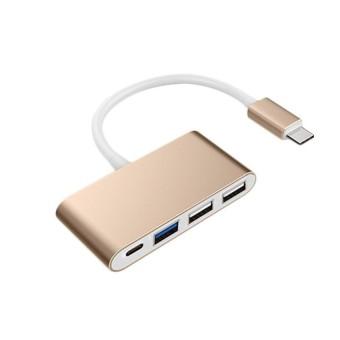 YBC Tipe C untuk 4-Port USB 3.0 Hub OTG Charger Adaptor Kabel untuk Ponsel