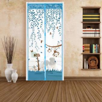 100 Cm X 210 Cm Pintu Kawat Nyamuk Magnet Kawat Anti Nyamuk Serangga Pintu Tirai Jaring