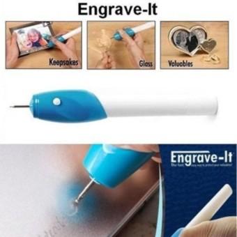 Alat Ukir Elektrik Berbentuk Pen / Engrave It - Biru