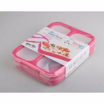 BEST Yooyee #579 Lunch Box GRID Bento Kotak Bekal Makan 3 Sekat ANTI BOCOR /