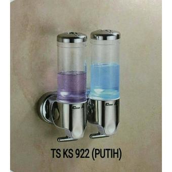 Dispenser sabun shampoo - tempat sabun cair tembok 2 tabung double Marchesa TS-KS-