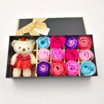 Effie Flower-Gift Box Doll+12pc Bunga Mawar Fragrance Flower Rose (Unicorn)