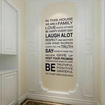 Aturan stiker dinding rumah keluarga seni dekorasi rumah anak vinil yang dapat dilepas
