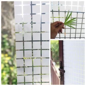 Buram kaca Film stiker jendela penutup bunga kamar mandi kantor pernyataan 200 cm x 45 cm