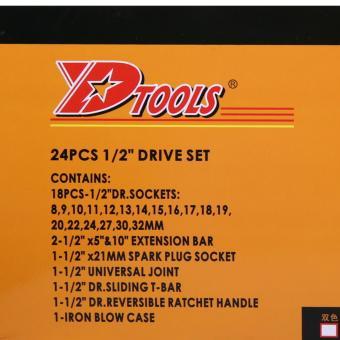 Ronaco D Tools Kunci Socket Wrench Pas Sok Shock Sock Set 24 Pcs .