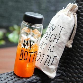 JBS - My Bottle NEW CLEAR Botol Warna Warni + TAS 500ml - Random