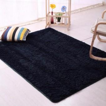Karpet Bulu Anti-skid Carpets Rugs Floor Mat/Cover 150x100cm Black