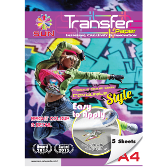 Kertas Transfer - SUN Next Generation Glossy Transfer Paper Dark A4