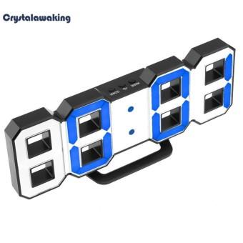 LED Digital Alarm Jam Upgrade Versi 8888 Jam Dinding Jam Meja-Intl
