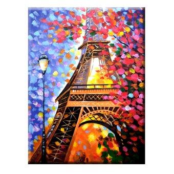 Lukisanku Lukisan Eiffel MY-5 - Lukisan Tangan