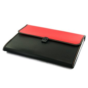 OHOME Tozhca Folder File Kertas Paper Organizer Filing A4 Legal - MS-TZ522 - Merah