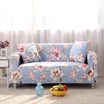 Dicetak Stretch Elastis Sarung Sofa Slipcovers Pelapis Sofa untuk 2 Seater-Intl