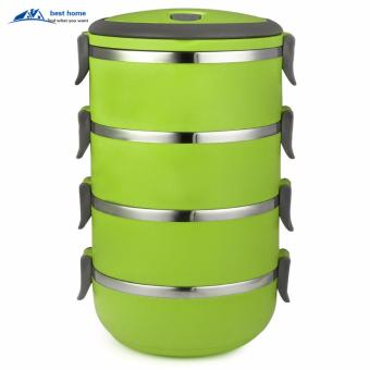 Rantang Makan 4 Susun Stainless Steel/ Lunch Box 4 Layer Stainless Steel